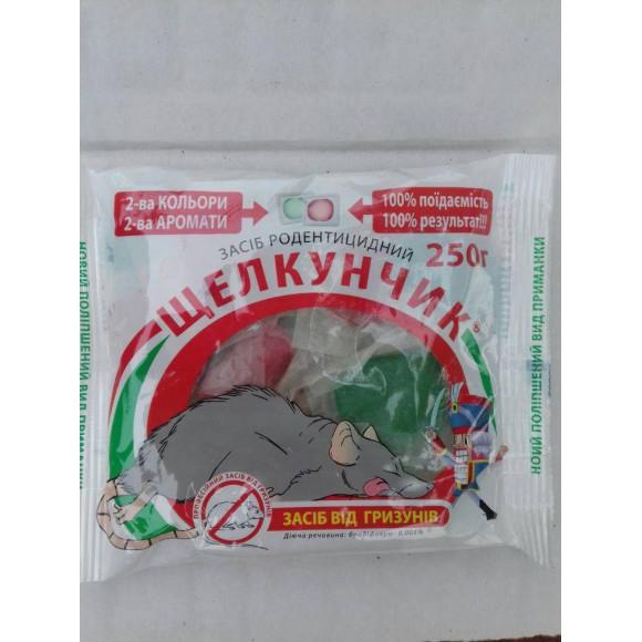Засіб родентицидное Лускунчик тестова приманка з ароматом сиру і арахісу 250гр