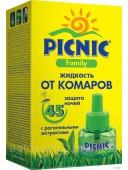 Рідина від комарів Picnic Family з рослинними екстрактами 45 ночей - 30 мл