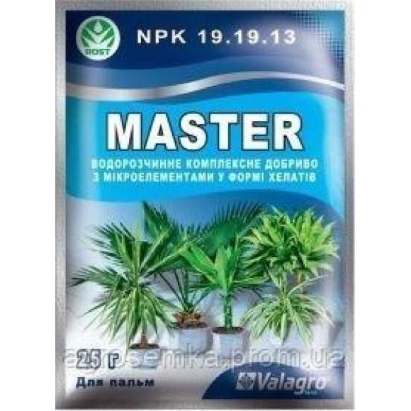 Комплексне мінеральне добриво для пальм Master Мастер 25г Valagro Валагро