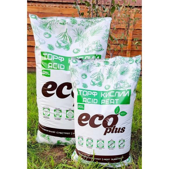 Кислий Торф для Лохини і Хвойників Eco Plus 50л