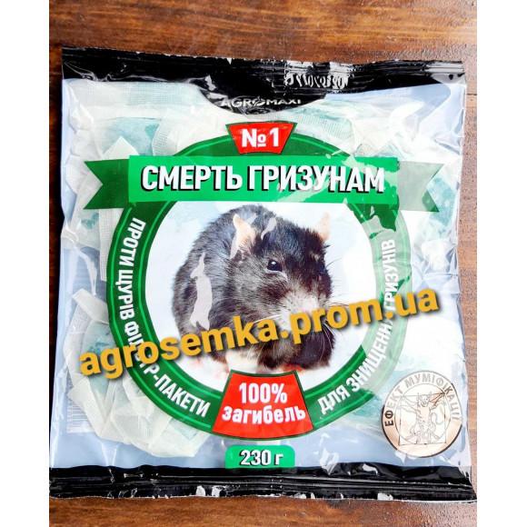 Тісто від щурів і мишей Смерть гризунів 1 з арахісовим привлекателем 230 г