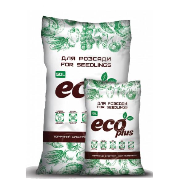 Торфяної субстрат ДЛЯ РОЗСАДИ Eco Plus 10л