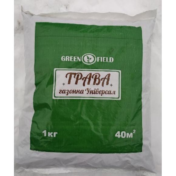 Газонна трава Унверсальная Green Field 1кг пакет